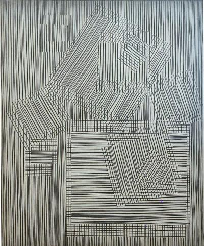 Victor Vasarely American Modern Abstract Expressionist Victor Vasarely