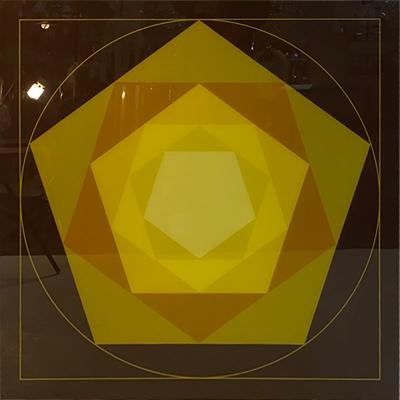 Victor Vasarely DRAMATIC OPTIC GEOMETRIC LITHOGRAPH IN THE MANNER OF VICTOR VASARELY