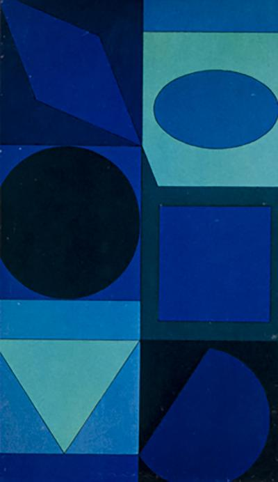 Victor Vasarely Geometric composition 1970s