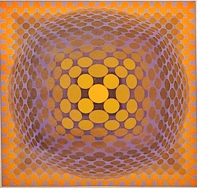 Victor Vasarely VICTOR VASARELY OP ART VEGA SERIES SERIGRAPH 113 250 SIGNED LOWER RIGHT