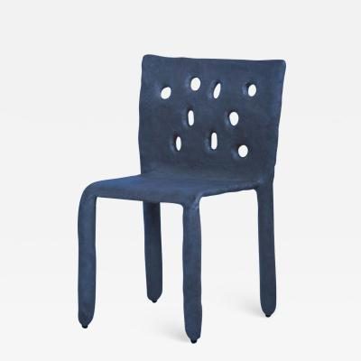 Victoria Yakusha Blue Sculpted Contemporary Chair by Victoria Yakusha