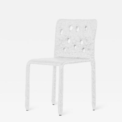 Victoria Yakusha White Sculpted Contemporary Chair by Victoria Yakusha