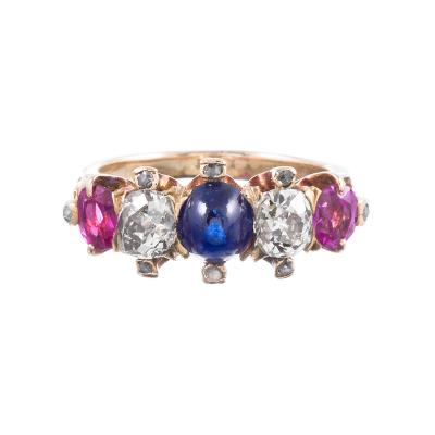 Victorian Americana Gemstone Ring