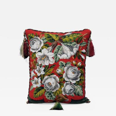 Victorian Beaded Cushion Circa 1860