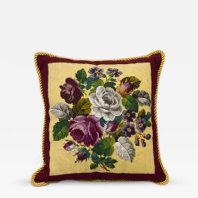 Victorian Beadwork Cushion Circa 1880