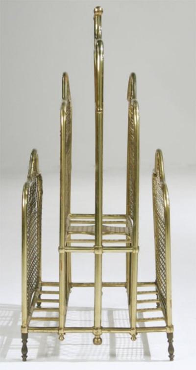 Victorian Brass Magazine Stand