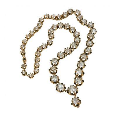 Victorian Cushion Cut Diamond Necklace