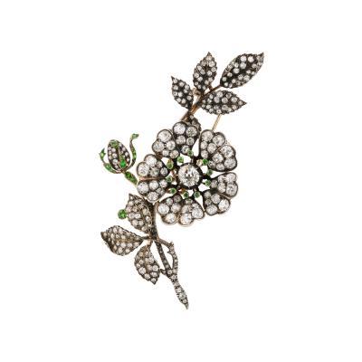 Victorian Floral Spray Brooch