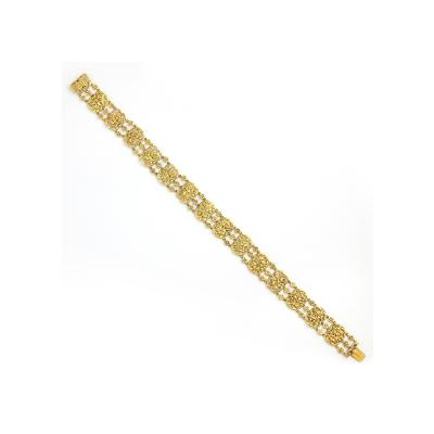 Victorian Gold Floral Choker Necklace