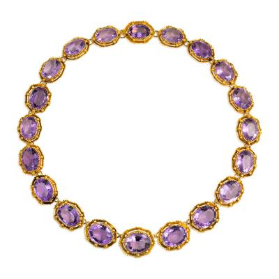 Victorian Gold and Amethyst Rivi re