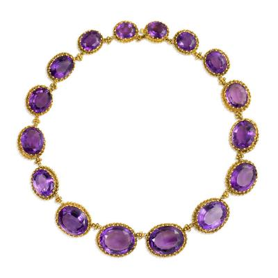 Victorian Gold and Amethyst Rivi re Necklace