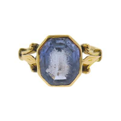 Victorian Intaglio Sapphire Ring