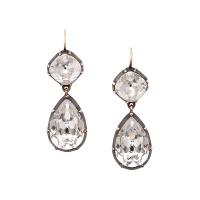 Victorian Paste Pear Shape Drop Earrings