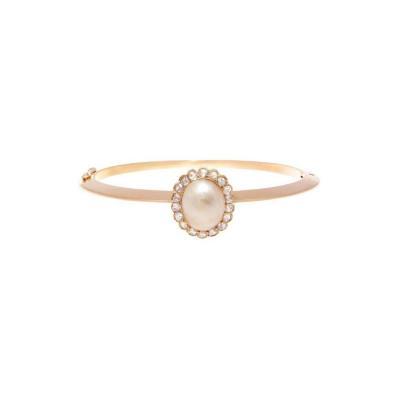 Victorian Pearl Diamond Gold Bracelet