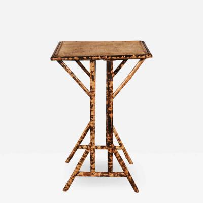 Victorian Tiger Bamboo Side Table