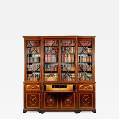 Victorian mahogany Sheraton Revival bookcase