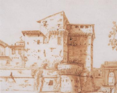 View of a Huose in the Walled City of Pontanaletto