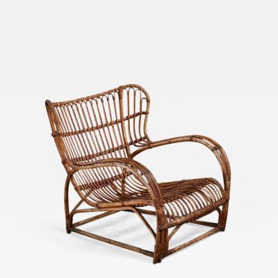 Viggo Boesen Viggo Boesen Bamboo Lounge Chair for E V A Nissen Denmark 1930s