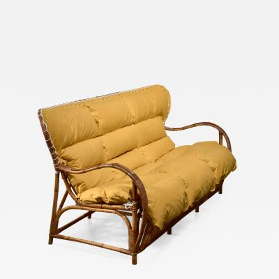 Viggo Boesen Viggo Boesen bamboo and cane sofa for Wengler