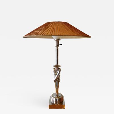 Viktor Schreckengost American Modern Chrome Chinaman Table Lamps Viktor Schreckengost 1930s