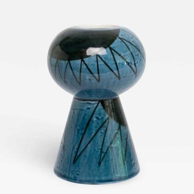 Vilhelm Bjerke Petersen VILHELM BJERKE PETERSEN SURREALIST BLUE VASE FOR RORSTAND