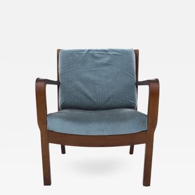 Vilhelm Lauritzen Easy Chair in Cuban Mahogany