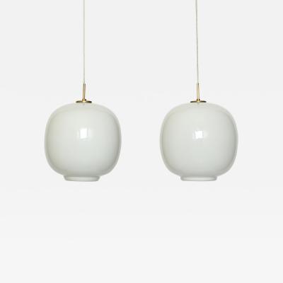 Vilhelm Lauritzen Pair of ceiling pendants by Vilhelm Lauritzen for Louis Poulsen