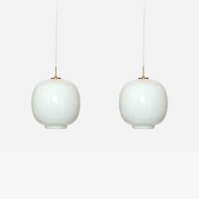 Vilhelm Lauritzen Vilhelm Lauritzen Pair of Ceiling Pendants for Louis Poulsen