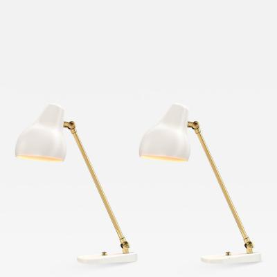 Vilhelm Lauritzen Vilhelm Lauritzen Radiohus Table Lamps for Louis Poulsen