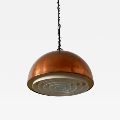 Vilhelm Wohlert Mid Century Copper Pendant Lamp Louisiana by Vilhelm Wohlert for Louis Poulsen