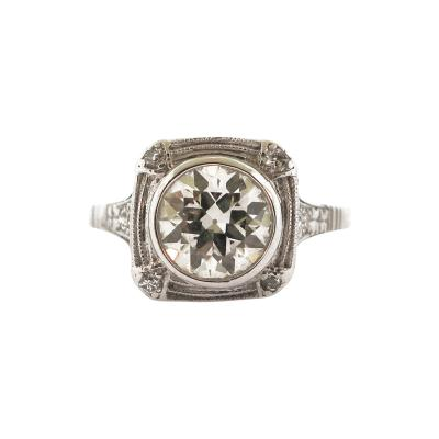 Vinatge Diamond Bezel Set Ring