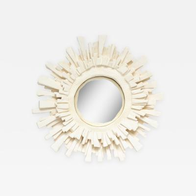 Vincent V French White Ceramic Mirror