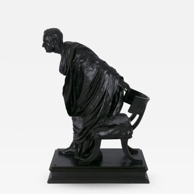 Vincenzo Alfano Cicero s Accusation of Catilina Italian Bronze Sculpture by Vincenzo Alfano