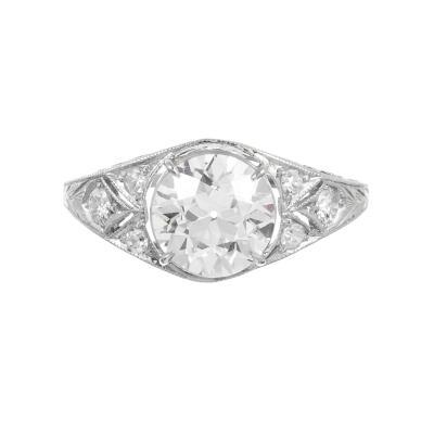 Vintage 1 85 ct G VS1 Diamond Ring