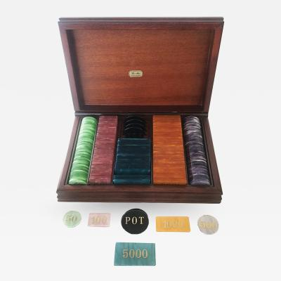 Vintage 1950s Italian Pearlized Lucite Poker Chips