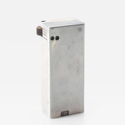 Vintage Aluminum Tall Slim Cigarette Lighter Mid Century Modern