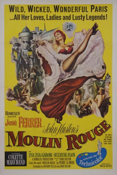 Vintage American Moulin Rouge Film Poster 1952