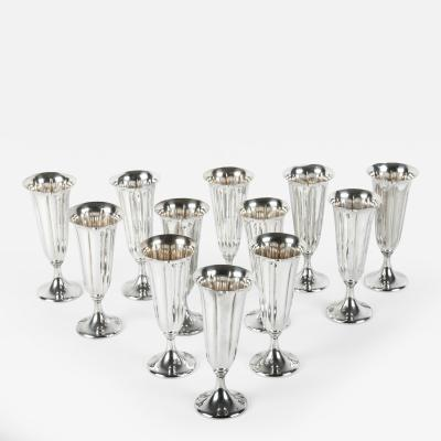 Vintage American Silver Plated Champagne Flute Set