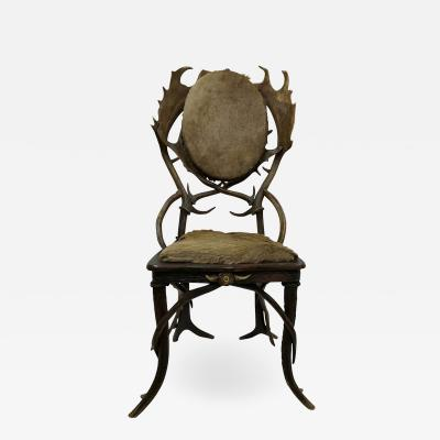 Vintage Antler Chair