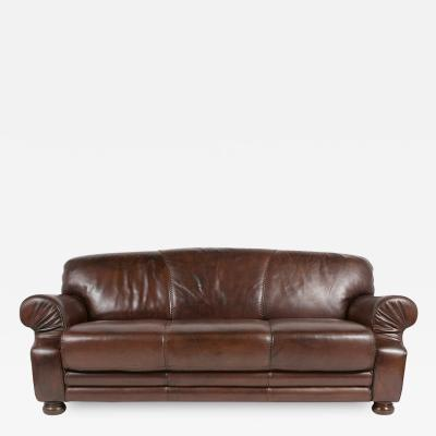 Vintage Art Deco Leather Sofa