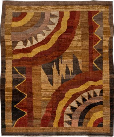 Vintage Art Deco Style Wool Rug