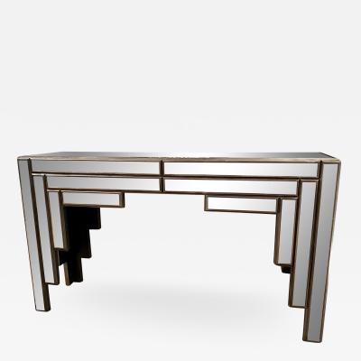 Vintage Art Deco Theater Mirrored Console Table