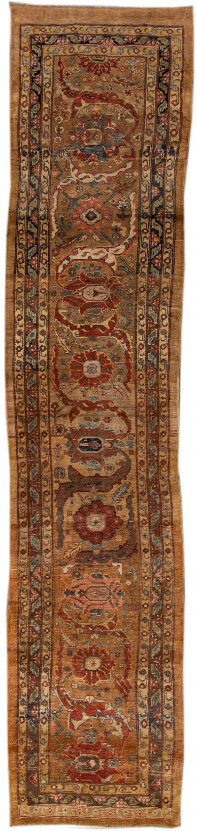 Vintage Bakshaish Tribal Wool Runner Rug