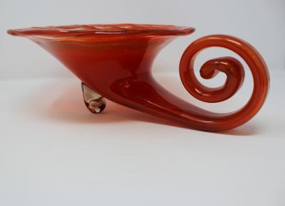Vintage Barbini Style Murano Glass Cornucopia