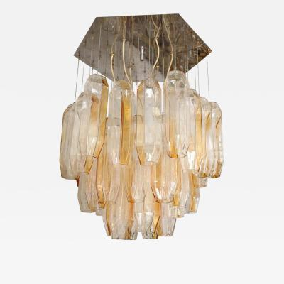 Vintage Bi Color Murano Glass Chandelier