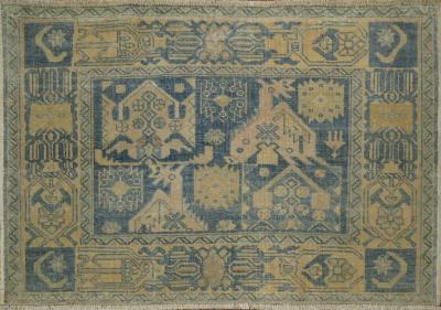 Vintage Blue Afshar Rug Mat rug no 31280