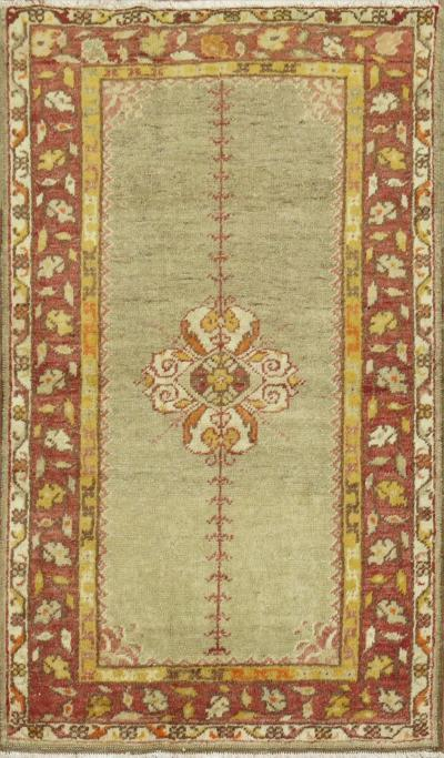 Vintage Blue Oushak Throw Rug rug no 31271