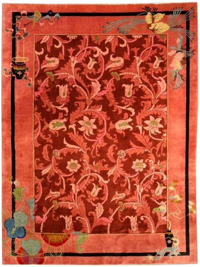 Vintage Chinese Art Deco Carpet