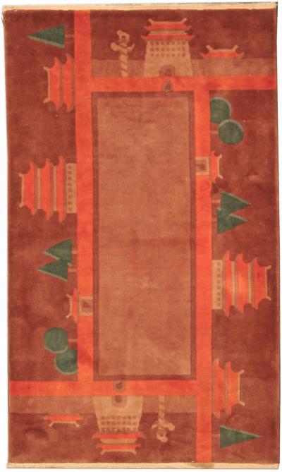 Vintage Chinese Deco Rug