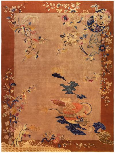 Vintage Chinese Decorative Area Rug